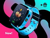 Детские наручные смарт часы с шагомером Smart Baby Watch Original Plus