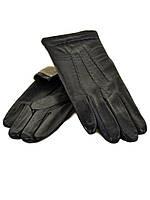 PODIUM Перчатка Мужская кожа M21/17 мод4 black шерсть