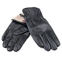 PODIUM Перчатка Мужская кожа M21/19-2 мод2 black шерсть