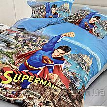 Постельное белье Superman Размер полуторный   Хлопок.