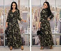 """Шикарное женское платье в пол с россыпью блесток ткань """"Трикотаж-масло"""" 56, 58 размер 56"""