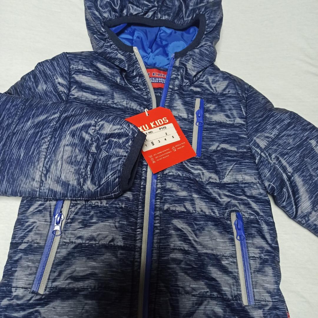 Куртка модная нарядная красивая оригинальная демисезонная на флисе синего цвета для мальчика.