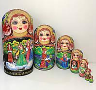 Большие пирамидки детские, матрешки со сказкой из 7 кукол