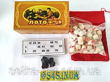 Лото настольная игра в бамбуковой коробке IG-8807