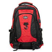 Рюкзак городской нейлон Power 82102 черный с красным, фото 1