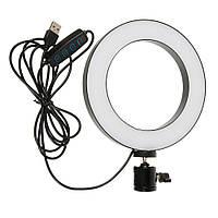 Светодиодная кольцевая лампа селфи кольцо M-138 20см (без держателя, без подставки)