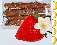 Пастила натуральные конфеты жевательные клубника и банан без сахара упаковка 18 шт