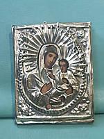 Старинная икона Богородицы Божьей матери 19-й век