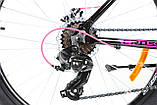 """Велосипед для дівчинки підлітка Crosser Girl 24"""" (рама з алюмінію), фото 5"""