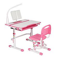 Комплект Cubby парта трансформер и стульчик Botero Pink для школы и дома