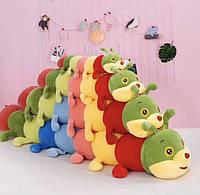 Мягкая игрушка Гусеница Радуга, 140 см