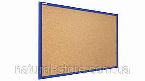 """Пробкова дошка 90х60см у синій дерев'яній рамі TM """"ALL boards"""""""