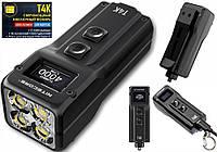 Сверхмощный Наключный EDC фонарь с OLED дисплеем NITECORE T4K (4000LM, 1000mAh, USB Type-C, Cree XP-L HD V6)