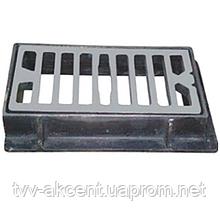 Дождеприемник чугунный типу ДМ  малый  решетка 580х300х45 мм