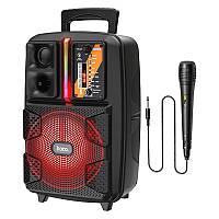 Беспроводная портативная Bluetooth колонка чемодан с микрофоном HOCO Dancer outdoor wireless speaker BS37