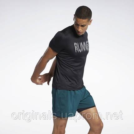 Футболка для бега Reebok Run Essentials Graphic GJ6295 2021, фото 2