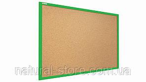 """Пробкова дошка 90х60см в салатовій дерев'яній рамі TM """"ALL boards"""""""