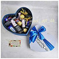 Подарок мужу на 14 февраля/ Подарок на 14 февраля/ Сладкий подарок/ Подарок в виде сердца