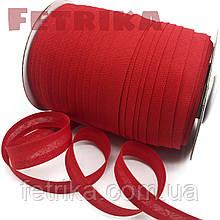 Косая-бейка хлопковая красная, 15 мм