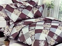 """Полуторный комплект постельного белья бордовый из полиэстера """"Печворк"""""""