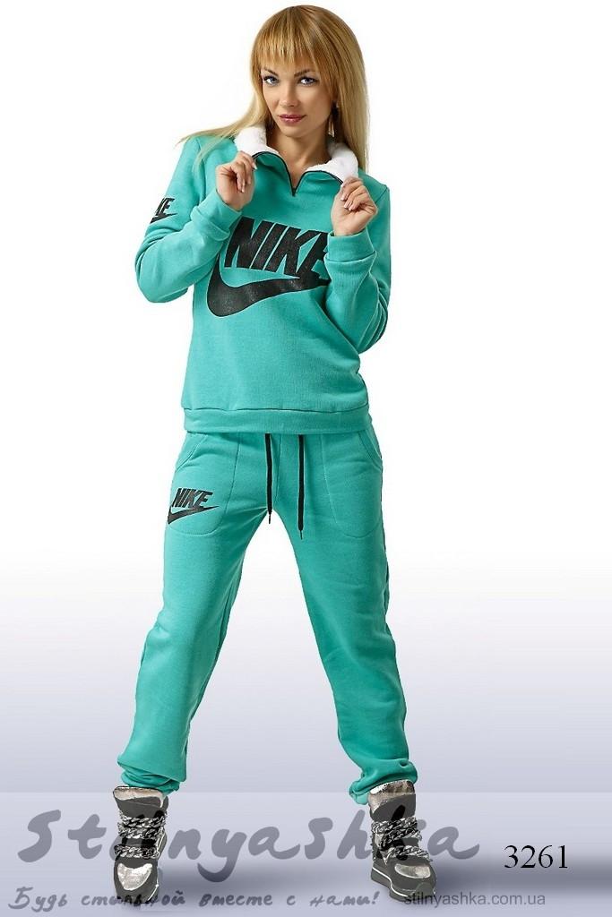 теплый спортивный женский костюм