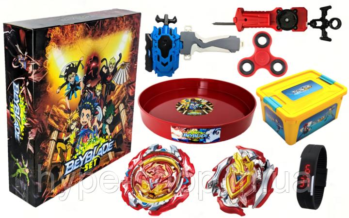 Набор блейдов Beyblade Box Storm Подарочная упаковка - Квадратная арена!