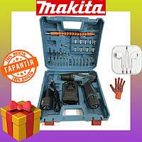 Аккумуляторный шуруповерт Makita DF330DWE 12V 2A/h Li-Ion Макита с набором инструментов 12 вольт. Шуруповёрт
