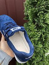 Кроссовки мужские замшевые утепление на зиму цвет синий, фото 2