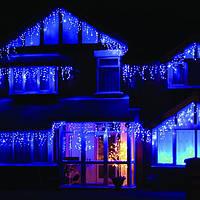Уличная новогодняя светодиодная гирлянда бахрома-волна на 178 LED 3 метра на  0.6*0.5*0.3 м.