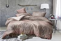 Полуторный комплект постельного белья бежевый из полиэстера «Мечтательность»