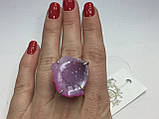 Агат жеода друза агата 16,2 размер кольцо с натуральным камнем жеода агата в серебре Индия, фото 5