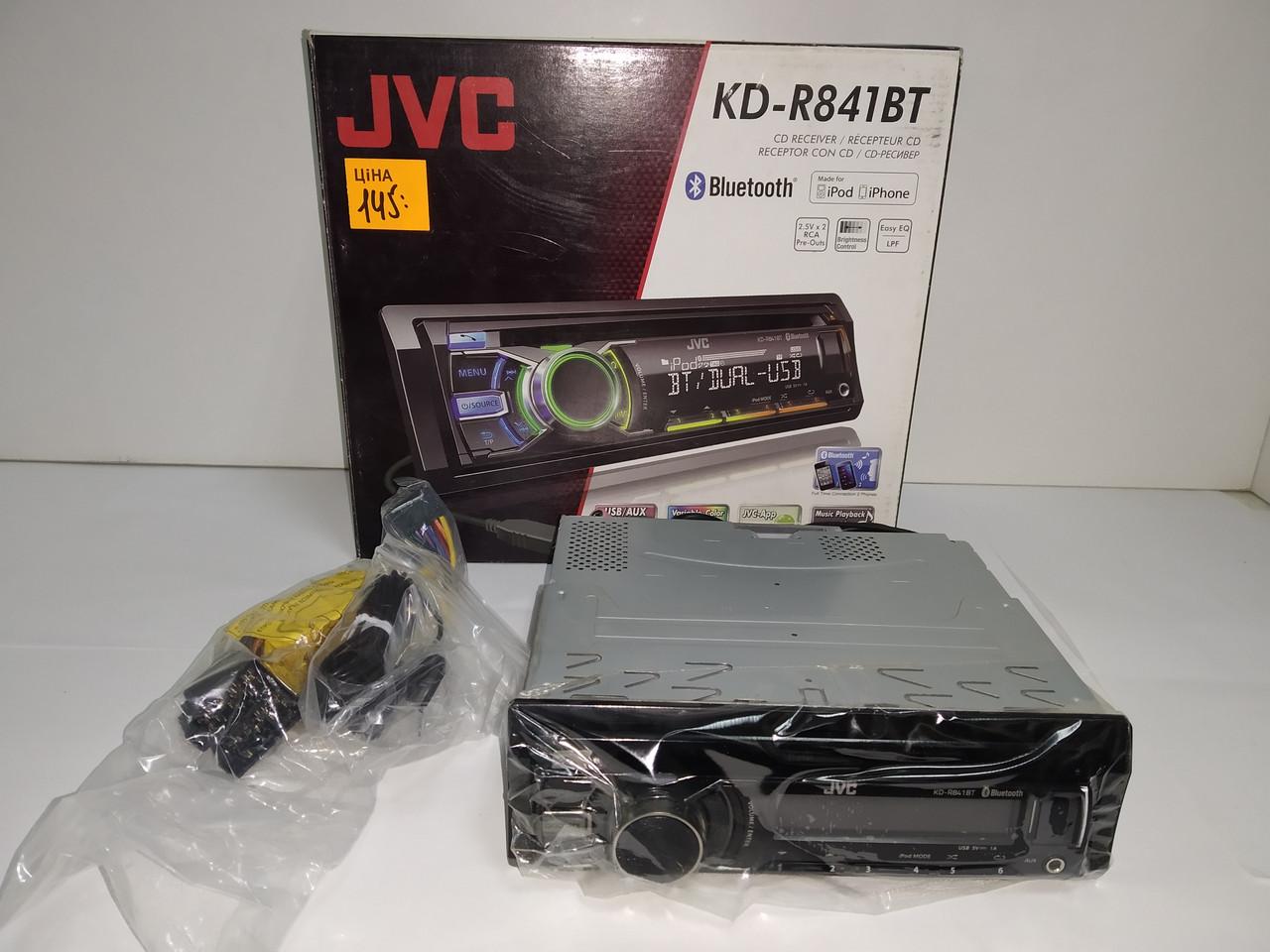 Автомагнітола JVC KD-R841BTEY