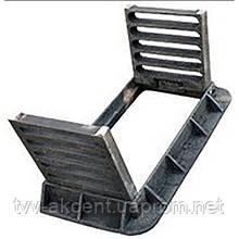 Дощоприймач чавунний типу ДВ на шарнірах 800х400х45