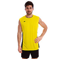 Форма волейбольная мужская 6503M (полиэстер, р-р 3XL, цвет желтый)Z