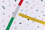 """Ранфорс шириной 240 см """"Разноцветные пятнышки"""" на белом фоне (№3239), фото 2"""