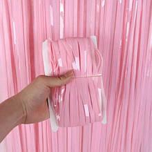 Фольгована шторка рожевий 1,2*3 метри