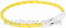 Нашийник Trixie 12691 світиться з USB M-L 45 см 7 мм Жовтий