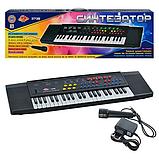 Пианино-синтезатор 3738 с микрофоном, сеть/батарейки, 44 клавиши, фото 3