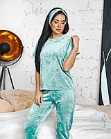 Костюм домашній 4в1 (кофта, штани, шорти, пов'язка) в кольорах 80962