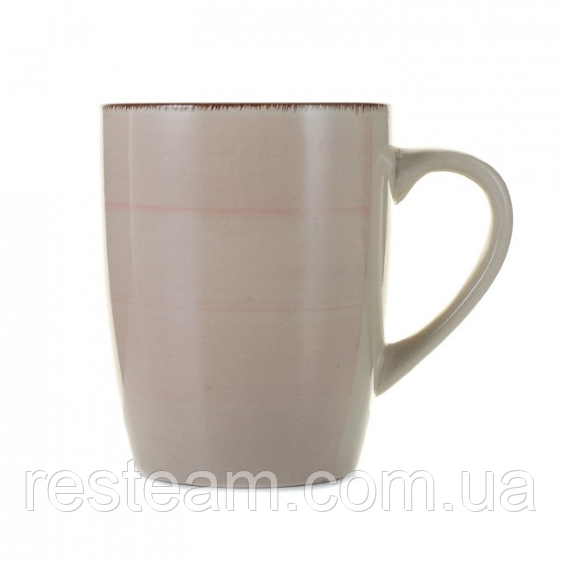 Чашка 350 мл керамика глазурь пудра