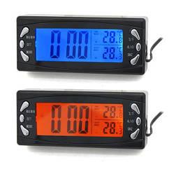 Часы автомобильные ZIRY T-23 3-in-1 время, температура наруж/внутр