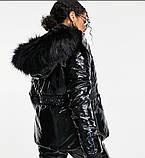 Костюм зимовий чорний жіночий куртка  та штани лижні Монклер, фото 3