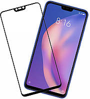 Стекло Full Glue 5D Xiaomi MI 8 Lite, Black (техпак)