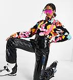 Костюм зимовий чорний жіночий куртка  та штани лижні Монклер, фото 5