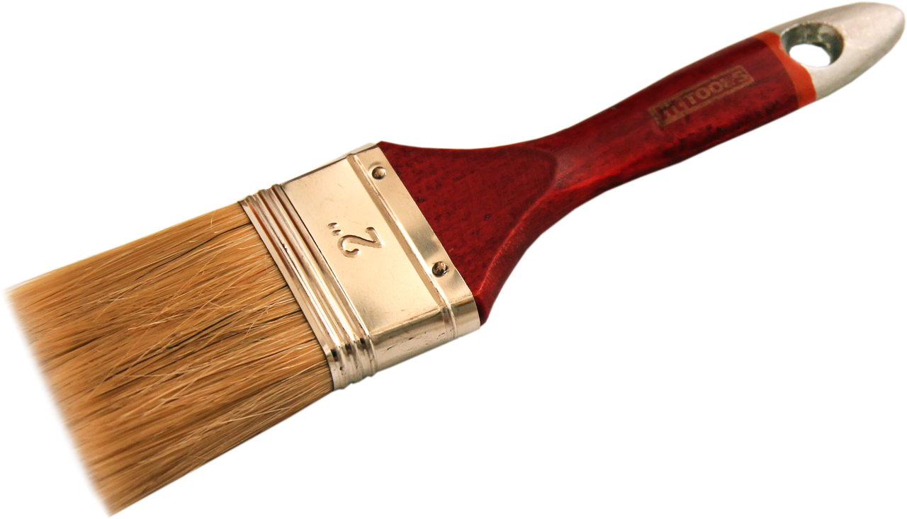 """Кисть флейцевая тип """"Євро"""", дерев'яна ручка 3"""""""