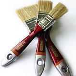 """Кисть флейцевая тип """"Євро"""", дерев'яна ручка 3"""", фото 4"""