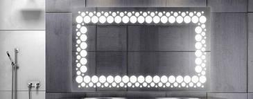 Зеркало с LED подсветкой 1200*800  10Вт с рисунком D45