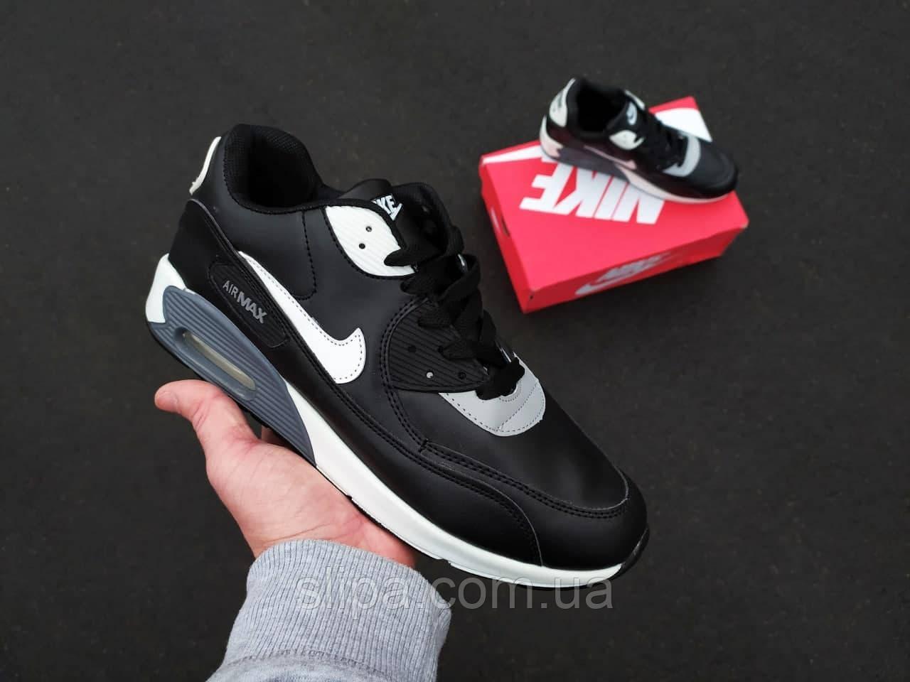 Чоловічі кросівки в стилі Nike Air Max 90 чорні