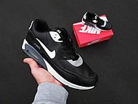 Чоловічі кросівки в стилі Nike Air Max 90 чорні, фото 1