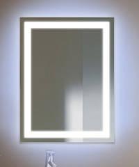 Зеркало с LED подсветкой 600*800  с рисунком D2 c дополнительной подсветкой